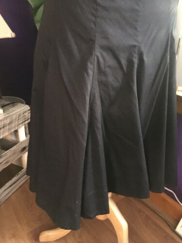 NEW Ralph Lauren Women's Size 12 Black Flowy Skirt W/ Zipper NWT