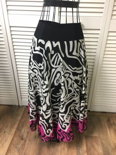 NEW Anne Klein Women's Size PS Flowy Maxi Skirt Multicolor Pattern NWT