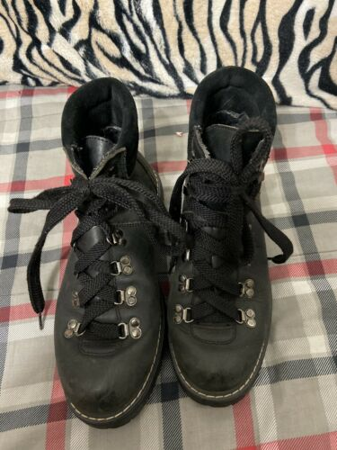 Mens GH Grafton Black Leather Hiking Boots Sz 8B