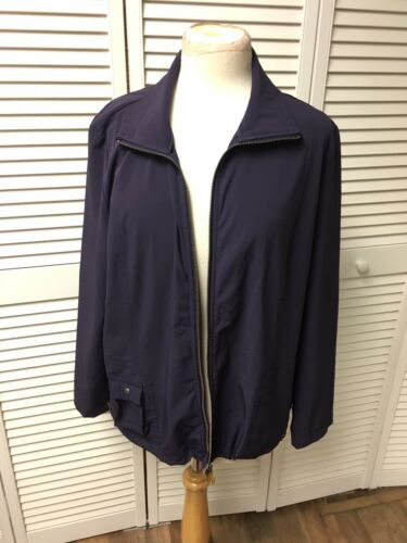 Zenergy By Chico's Size 2 Women's Purple Zip Up Jacket Long Sleeves With Pockets