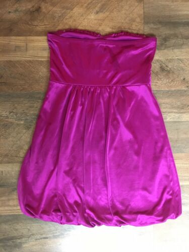 Forever 21 Women's Size Medium Pink Dress Strapless Silky Feel