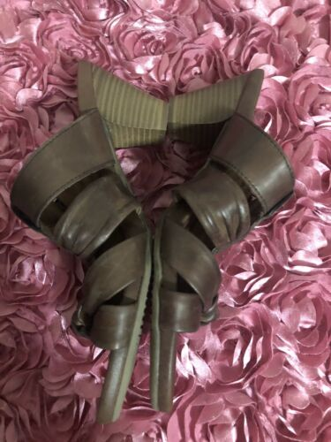 Womens Tamaris Brown Strappy Leather Sandals Sz 37 Or 7