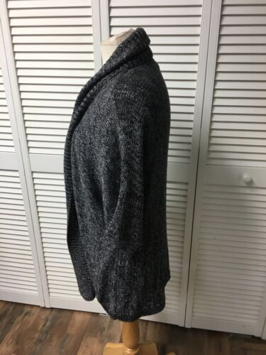 Additions By Chicos Size 3 Women's Grey Sweater Open Front