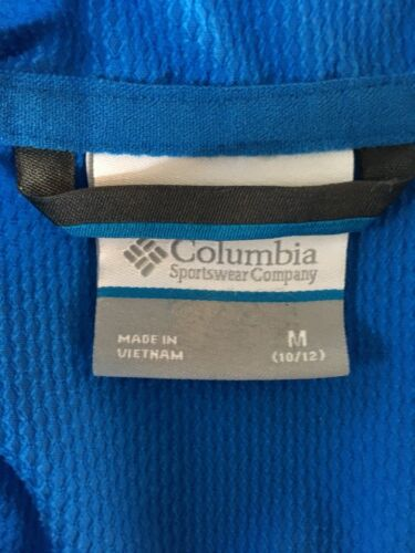 Columbia Women's Size Medium Blue Zip Up Jacket W/ Hood And Pockets