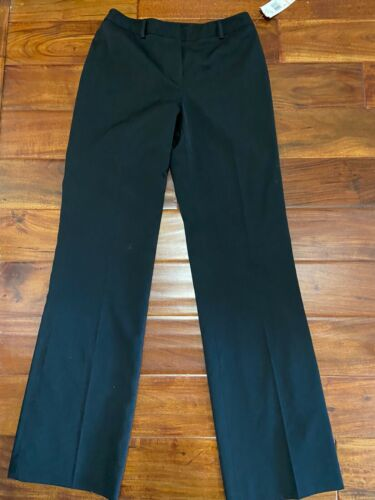 Women's Ann Klein Stretch Pants Black Front Zip Sz 2 New With Tags
