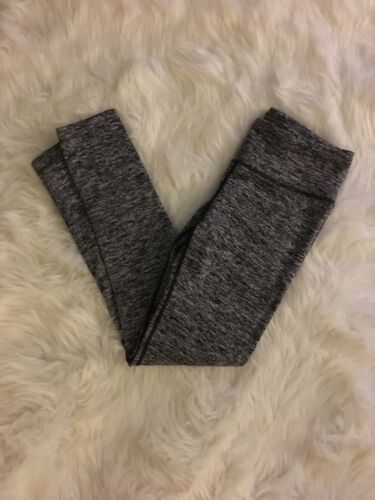 90 Degree By Reflex Heathered Grey Leggings With Small Pocket Womens Sz Med