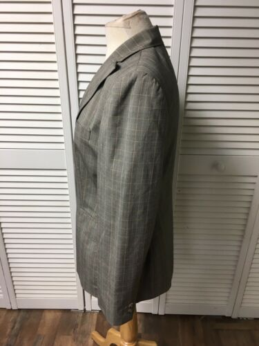 Anne Klein Women's Size 4 Suit Jacket Pinstripe Plaid With Pockets And Buttons