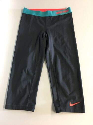 Nike Pro Dri Fit Women's Size Small Athletic Capris Spandex Style Elastic Waist