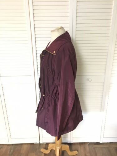 Charlotte Russe Women's Size 1X Plum Colored Light Weight Jacket W/ Pockets NWT
