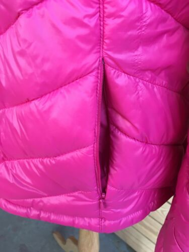 "Nautica Pink Puffy Jacket Long Sleeve Zip Up Light Weight Women's Size 44"" Chest"