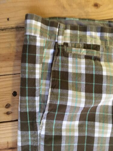 J. Ferrar Mens Plaid Shorts Size 48 W/ Button Back Pockets
