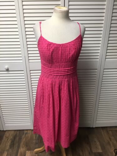 Ann Taylor Women's Size 6 Pink Dress W/ Spaghetti Straps Lace Cover/Slip Under