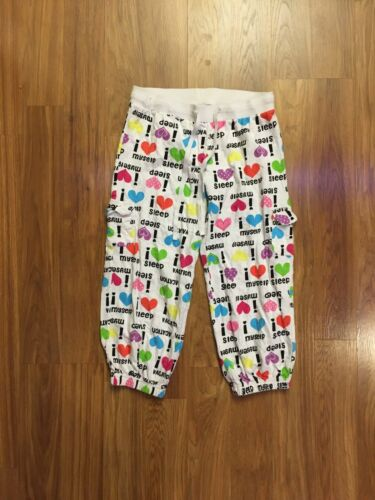 SO Juniors Size Small Soft Pajama Pants I Heart Sleep Pattern