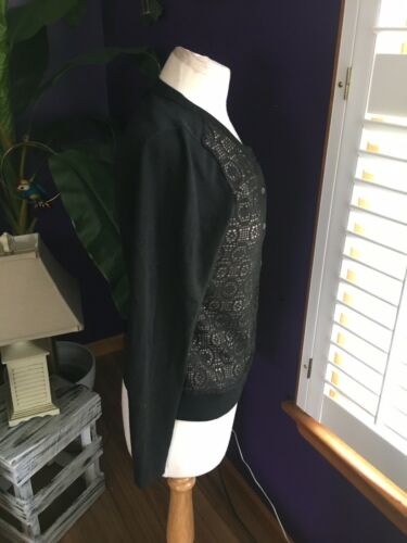Banana Republic Women's Size Small Long Sleeve Cardigan W/ Lace Style Front