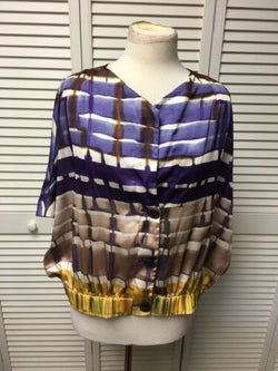 Coldwater Creek Women's Size Medium 10/12 Button Down Blouse Flowy Sleeves NWT