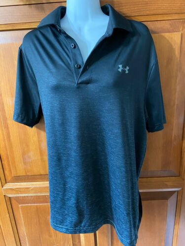 Men's Under Armour Shirt Dark Grey Loose Fit Heat Gear Sz M