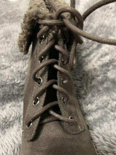 Dana Buchman Helma Womens Brown Lace Up Wedge Ankle Boots Sz 8 NEw