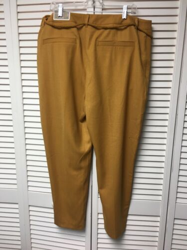 "Chico's Size 3 Women's Yellow Pants 38"" Waist Ankle Length The Ultimate Fit NWT"