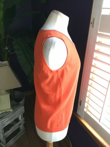 Talbots Women's Size Medium Orange Tank Top