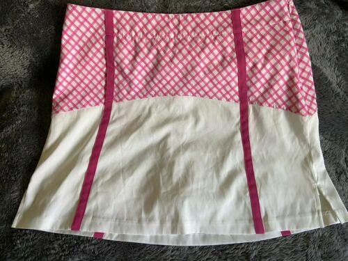 Women's Lady Hagen Skort Side Zip Pink/Ivory Sz 8