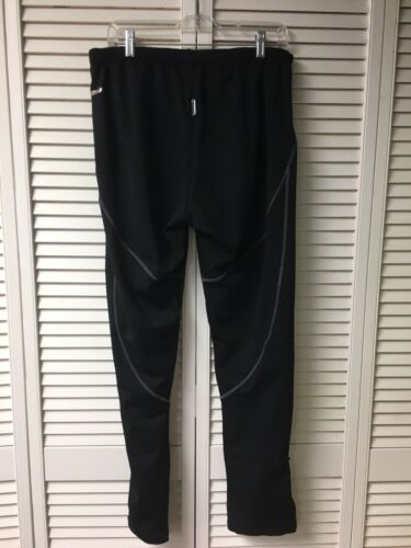 Santic Mens Size 3XL Athletic Sweat Pants W/ Zippers Black W/ Red Accents