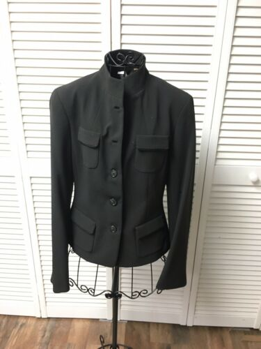 Tahari Women's Size 4 Black Button-Down Jacket Blazer Style With Pockets