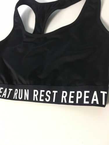 Old Navy Active Go Dry Women's Size Medium Black Sports Bra Run Rest Repeat