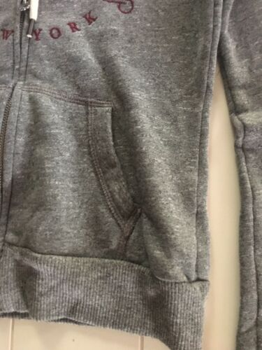 Abercrombie & Fitch Juniors Size XS Grey Zip Up Jacket W/ Hood And Pockets