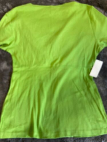Women's Nwe York & Co Top Pull Over Green Sz L New Wit Tag