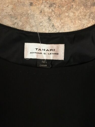 Tahari Women's Size 10 Black Tank Top Blouse With Side Zipper NWT
