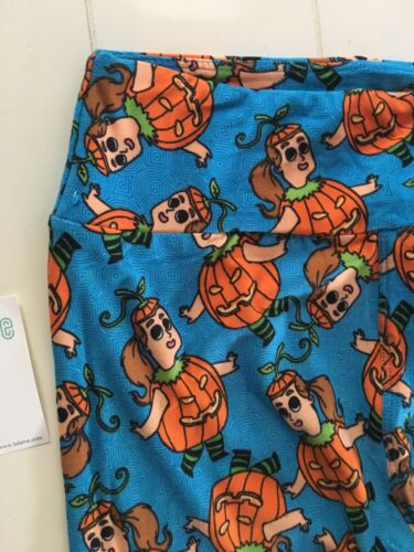 "LuLaRoe Girls Leggings Soft Pumpkin Pattern One Size 23"" Waist"