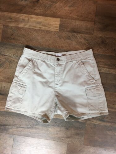 Calvin Klein Women's Size 8 Light Beige Khaki Shorts With Cargo Pockets