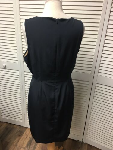 Charming Charlie Women's Size Large Black Dress W/ Gold Side On Top Zipper Back