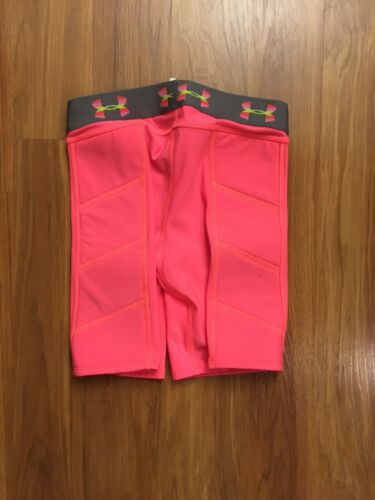 Under Armour Women's Size XS Neon Pink Spandex Shorts W/ Padded Sides