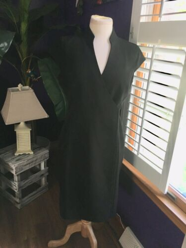 "Calvin Klein Women's Black Wrap Around Dress Chest Size 37"" Length 38"""