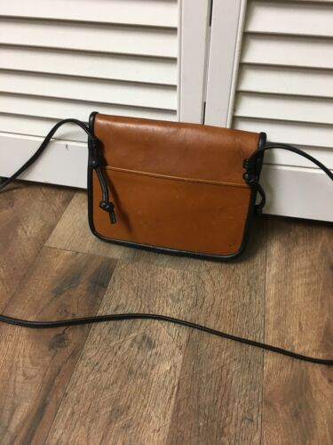 Towanny Brown Crossbody Purse Fold Over Top Magnet Closure Back Pocket