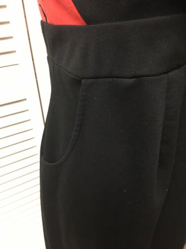 Liz Lange Maternity Dress Women's Sz M Black/Red, Pockets, Side Zipper, V-Neck