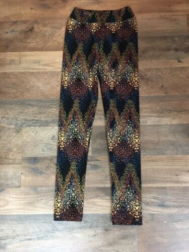 "LuLaRoe Multicolor Pants L/XL Soft Leggings Girls Youth Size 17"" Waist"