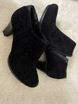 Clarks Suede Leather Ankle Boots Booties Black Sz 9.5