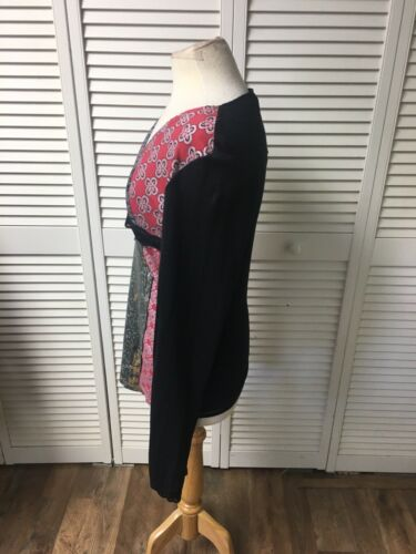 Cirque Du Soleil Women's Size XL Long Sleeve Shirt Red And Black Design NWT