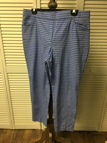 Heart N Crush Women's Size XL Blue And White Pants With Pockets NWT