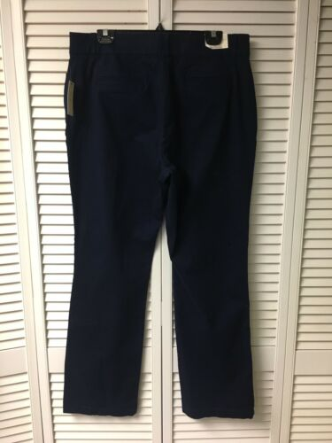 NEW Gloria Vanderbilt Women's Size 16 Average Navy Blue Pants With Pockets NWT