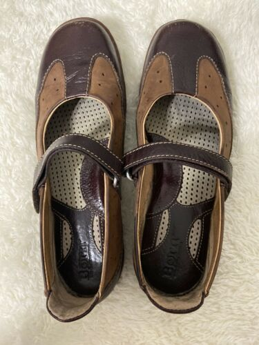 Womens Born Maryjane Sz 8.5 / 40 Brown Leather Flats