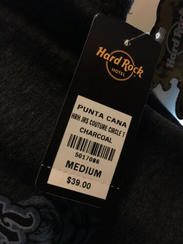 Hard Rock Punta Cana Tshirt Womens Size Medium Grey NWT