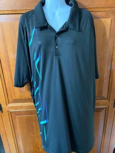 Men's Adidas Golf Shirt Short Sleeves Black Sz 2x