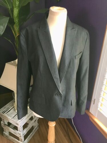 Anne Klein Women's Size 16 Charcoal Grey Colored Blazer With Button Closure