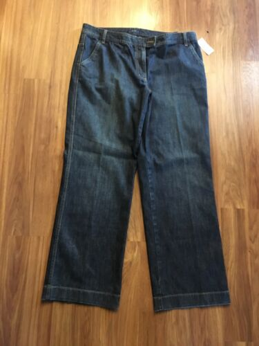 NEW Nautica Women's Size 16 Dark Blue Denim Jeans Town Fit Boot Cut NWT