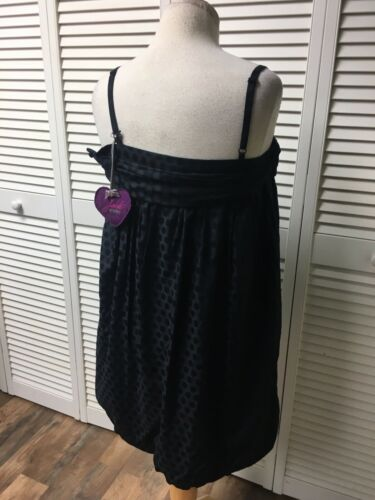 BB Dakota Women's Size Medium Black Dress Spaghetti Straps With Bow In Front NWT