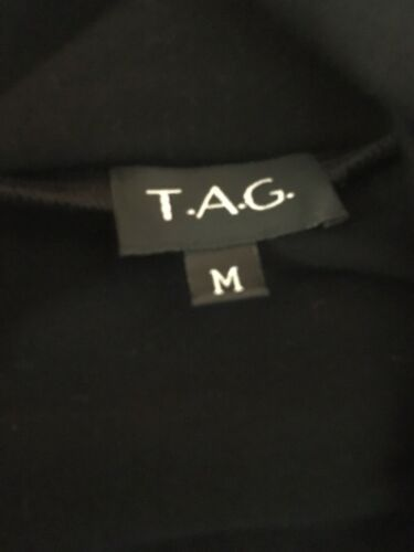 T.A.G. Women's Size Medium Black Long Sleeve Shaw Cover Jacket Open Front