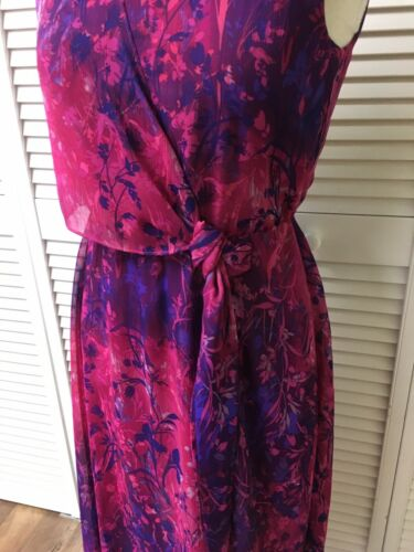 Coldwater Creek Women's Size P6 Pink And Purple Sleeveless Sun Dress Flowy
